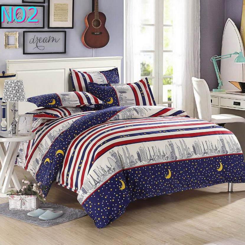 Красивые Облака Стиль хлопковый комплект постельного белья, постельное белье набор 3/постельного белья из 4 предметов, комплект с надписью «розовый», цвет бел - Цвет: Черный