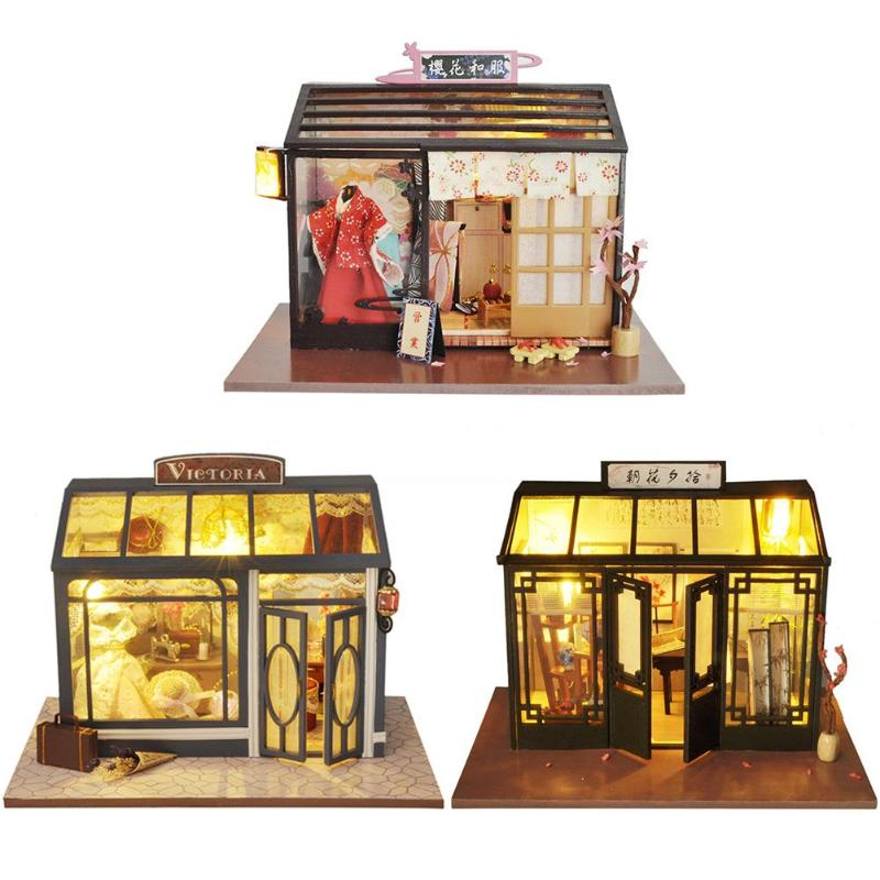 Kids Dreaming World Doll House Furniture Diy Miniature 3D Wooden Miniature Dollhouse Toys for Children Birthday Gifts Creative image