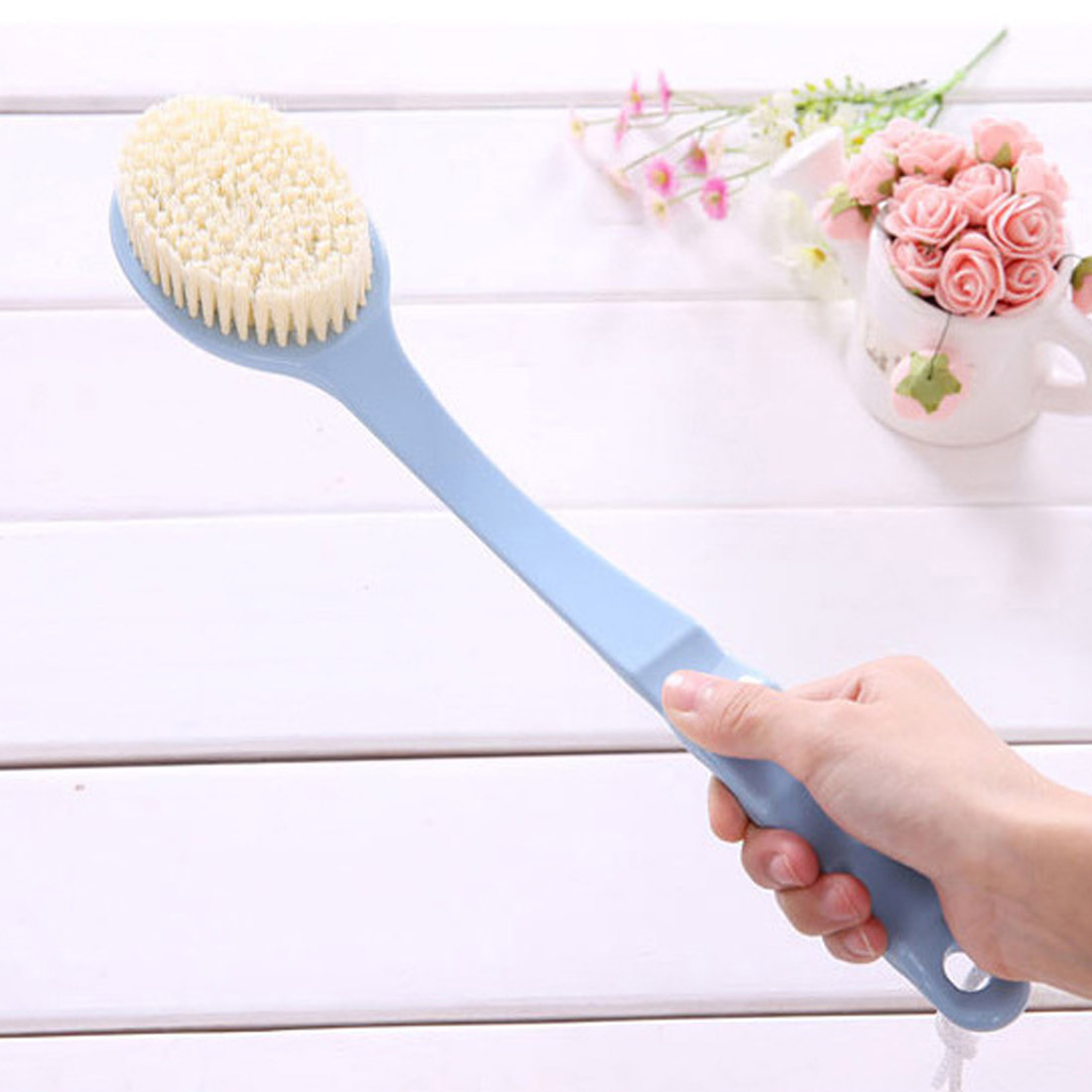 Bath Brush Long Handle Scrubber Skin Massage Brush Bath Body Brush For Back Exfoliation Brushes Bathroom Accessories Tools