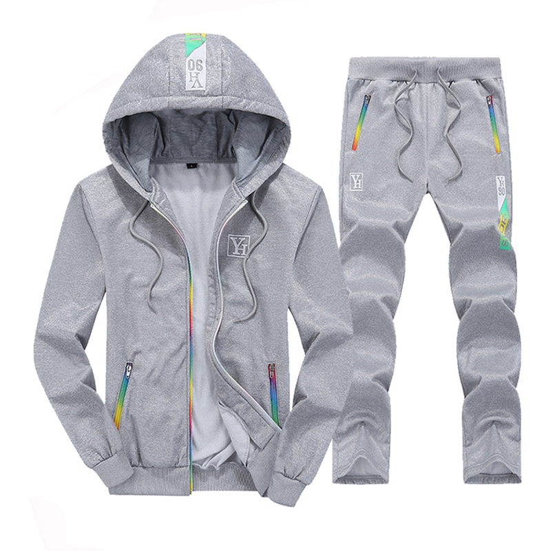 Tracksuit Mens Hooded Clothing Sportswear Patchwork Sweat Homme Casual Men Tracksuits Sets Two Pieces Sporting Jacket And Pants