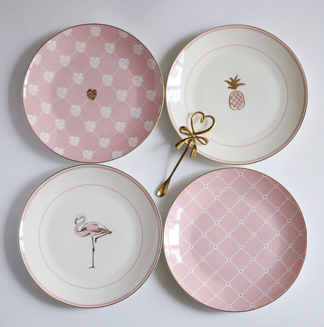 Gold Inlay Ceramic Plates Food Dishes Cookie Dessert Plate dinner plate snack tray dinnerware set