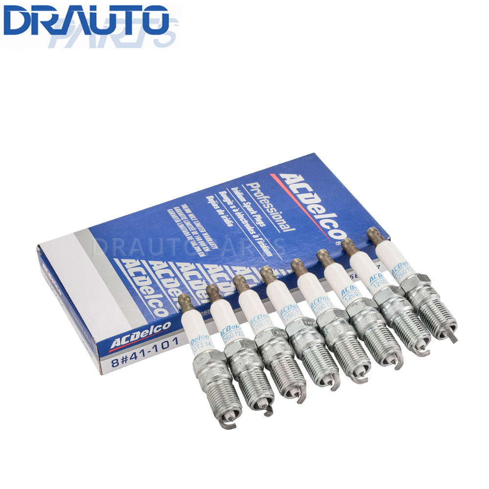 Acdelco Iridium Spark Plug 8pcs 41-101 For Buick Regal Lacrosse Century Chevrolet Camaro ...