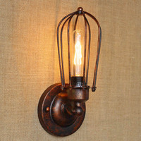 Modern Loft Vintage Wall Lamps Industrial Wall Light Edison Light 40W E27 Home Decoration Lighting Fixtures Diameter cage