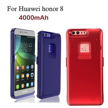 High quality 4000mAh Battery Rechargeable Backup Case For Huawei honor 8 External Battery Power Bank Charger Phone Cases Pack(China)