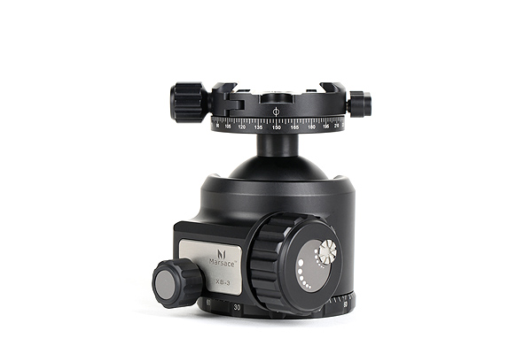 Marsace XB-3R Low Profile Ball Head with Panning Clamp Supports Loads Up to 60Kg 5 11