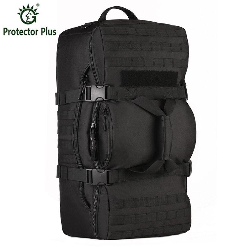 ФОТО Men Bags 60 l Waterproof Backpack Military 3 P Backpack School Bag Leisure Notebook Laptop Backpack Travel Backpack