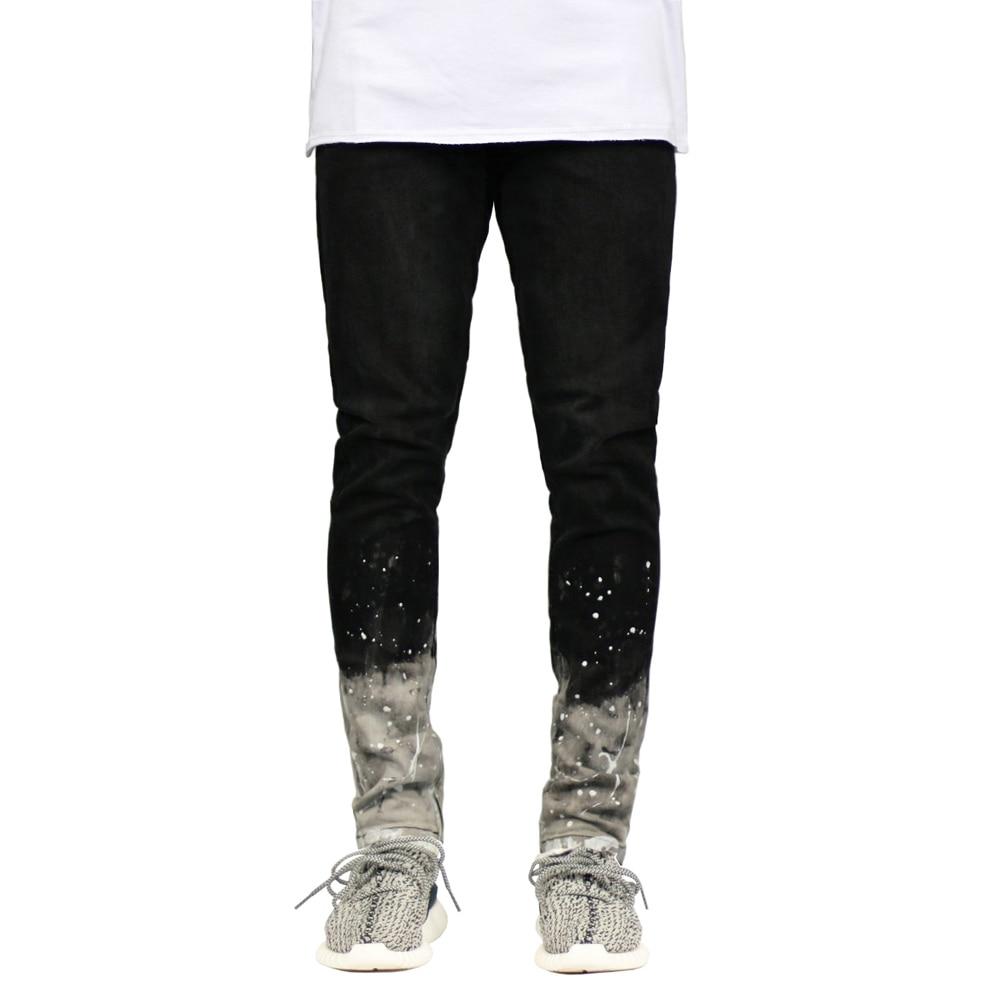2018 New Men's Skinny Stretch Paint Leg Side Ankle Zipper Pencil   Jeans   H0280