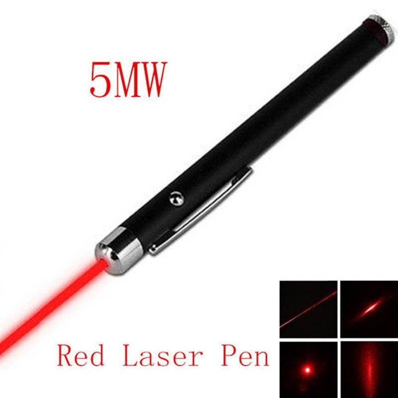 цена на 1Pcs 5MW 650nm RED Laser Pointer Professional High Power Lazer Hunting Laser Bore Sighter Without Battery