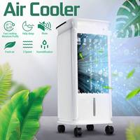 5L 220V Evaporative Air Fan Ice Portable Cooler Conditioner Purifier Humidifier Home 3 Wind Modes Negative Ion Air Purification