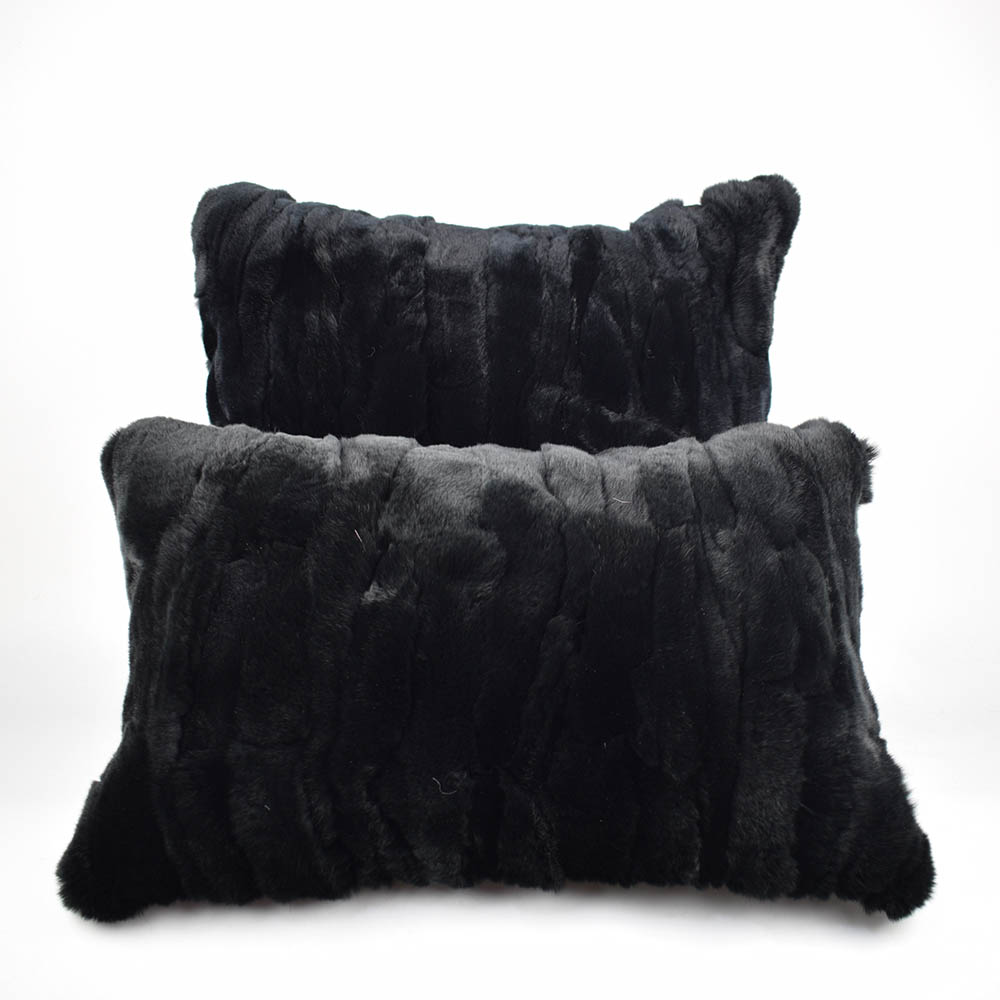 rex rabbit fur pillow 17