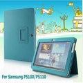 "2016 novo estilo stand case capa para samsung galaxy tab2 10.1 ""p5100/p5110 ultra-fino flip pu couro caso tablet"