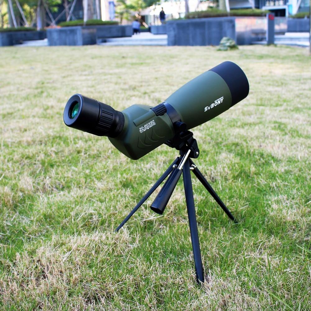 SVBONY SV29 Spotting Scope 27mm/15mm Eyepiece 20-60x60 Waterproof Zoom Porro Monocular Birdwatch Hunting Archery Telescope F9309 new spotting scope birdwatch monocular