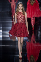 2016 Zuhair Murad Design Abendkleid Luxus Red Friesen Tüll Kurze Kleider Cocktail Party Veatidos De Festa MY1012-08