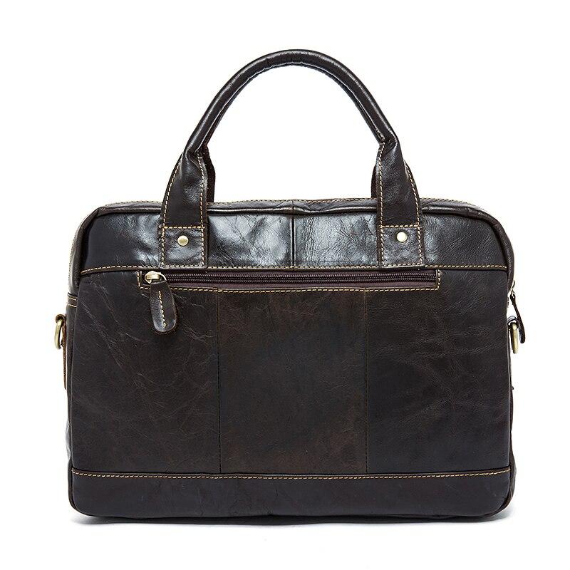 WESTAL hombres maletines bolsa de mensajero de cuero de los hombres bolsa de ordenador portátil para a4 documentos bolsas de oficina para hombre totes maletín de hombre 8002-in Carteras from Maletas y bolsas    2