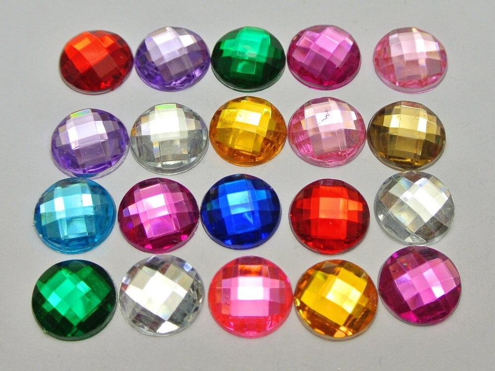 500 Flatback Acrylique Strass Facettes Ovale Gemme Perles 13X18mm Sans Trou En Gros