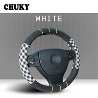 Car Flax steering wheel cover four seasons universal for Abarth Mini Cooper BMW E46 E39 VW Polo Passat B6 B5 B7 B8 Golf 4 7 5