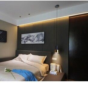 Image 5 - LukLoy Nordic Bedside Kitchen Island Pendant Light Modern Bedside Hanging Lamp LED Lighting Fixture Popular Suspension Lights
