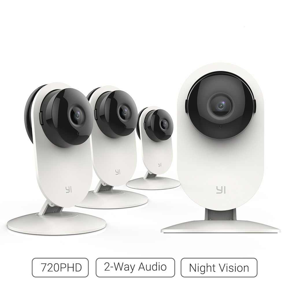 YI 4pc Home Camera 720P Wireless IP Home Security Surveillance System Night Vision Indoor Baby Pet Monitor YI Cloud WiFi Network