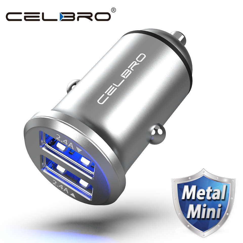 Dual <b>USB Car Charger</b> Adapter 4.8A Mini Metal <b>Car</b>-<b>Charger Mobile</b> ...