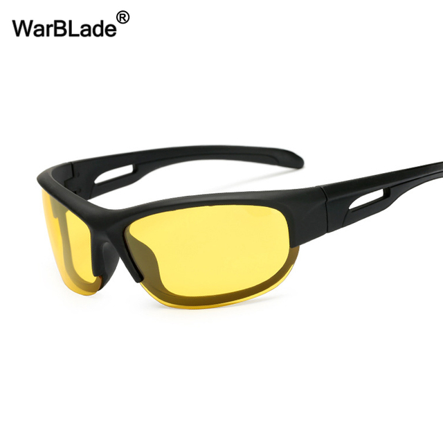 d98c3958a2a WarBLade Yellow Lens Night Vision Sun glasses Men Polarized Sunglasses Car Drivers  Goggles Anti-glare Safety Driving Sunglasses