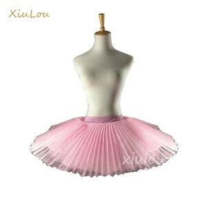 Image 3 - 2020 Professional Ballet Tutus Adult Stiff Pancake Half Ballet Tutu black Practice Tutu Skirts Kids White Platter Tutu Base gir