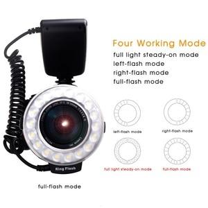 Image 4 - SAMTIAN RF 550Dแฟลช48 PCS LEDแฟลชมาโครสำหรับNIKON Canon Olympus SONY Panasonic Fujifilm SpeedliteจอแสดงผลLCD