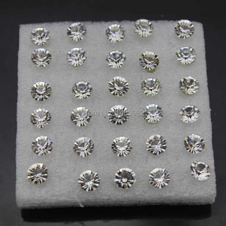 SENHUA 20 pairs 6mm Fashion Girl Women's Imitation Diamonds Clear Crystal Rhinestone Stud Earrings Gift YE95