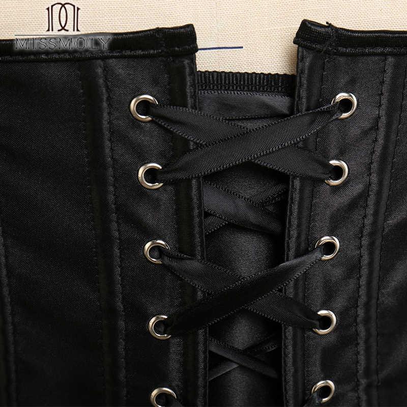 Miss Moly, стимпанк, корсет под грудь, для женщин, талия, для похудения, бюстье, моделирующий пояс, на шнуровке, для контроля живота, для тела, формирователь размера плюс