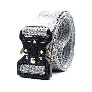 Military Belt Men Tactical Army Nylon Belts Survival SWAT Metal Buckle Heavy Duty Safety Gear Black Waist Belts Accessories 38MM