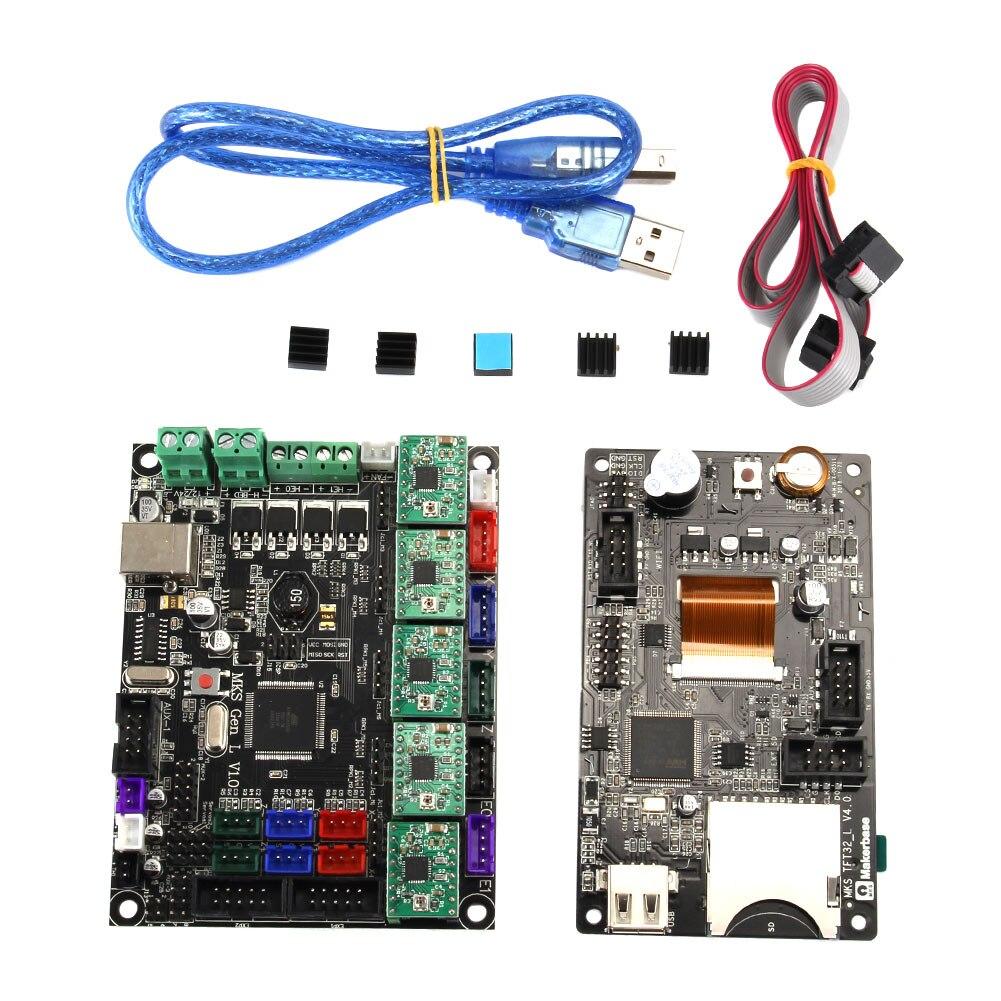 Pour MKS GEN L MKS TFT32 LCD Minipanel écran tactile Kits d'impression 3D avec pilote A4988 JLRJ88