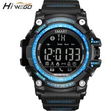 Hiwego Bluetooth Outdoor Sport Smart Watch for Men Professional 5ATM Waterproof Smart Wristwatch Pedometer Smartwatch 2017