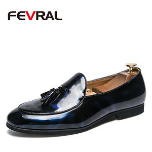 FEVRAL Men Shoes Formal Oxfords-Size Suits Business-Dress Classic Fashion Slip-On New