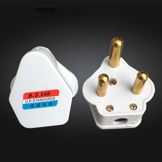 Fine 2Pcs Uk16A Electrical Plug Three Legged Big Round Plug For Wiring Digital Resources Unprprontobusorg