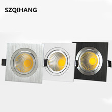 Super Bright LED COB Downlight 7W  10W 2*7W 2*10W Recessed Ceiling Down light led cob Spot Light Dimmable
