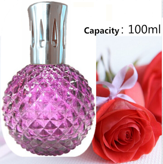 Aroma Reed Diffuser - Fragrance Essential Oil Lamp Glass Bottle with catalytic Incense burning wick & Funel for Aromatherapy aroma premium quality incense cone essential oil purple lavender scent