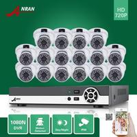 ANRAN 16CH HDMI 1080N DVR 16PCS 720P Waterproof HD Home CCTV Security Camera System