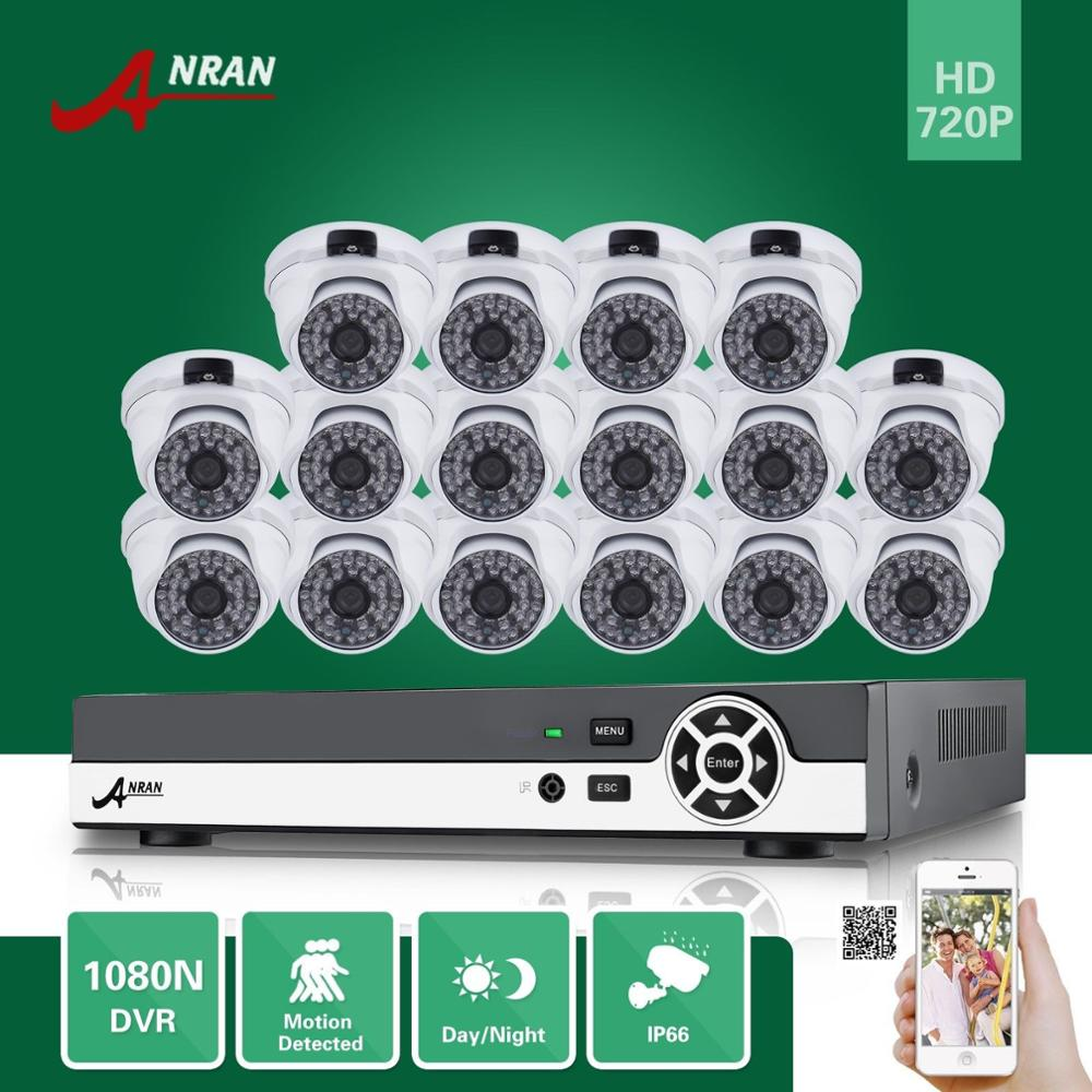 ANRAN 16CH HDMI 1080N DVR 16PCS 720P Waterproof HD Home CCTV Security Camera System