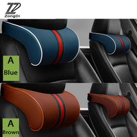 ZD 1X Car Neck pillow Three primary colors Headrest for Citroen C4 C5 Hyundai Solaris I30 VW Polo T5 Ford Fiesta Fusion Mustang