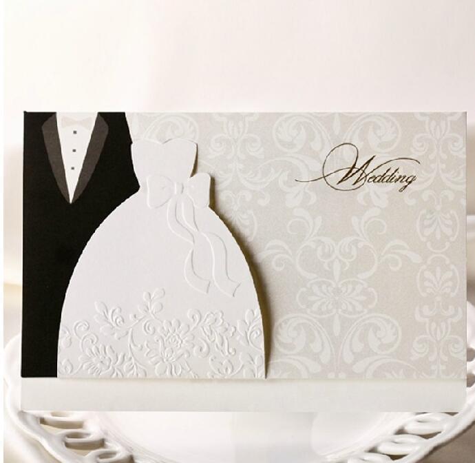 Brides Wedding Invitation Kit: Bride And Groom Wedding Party Invitation Card With