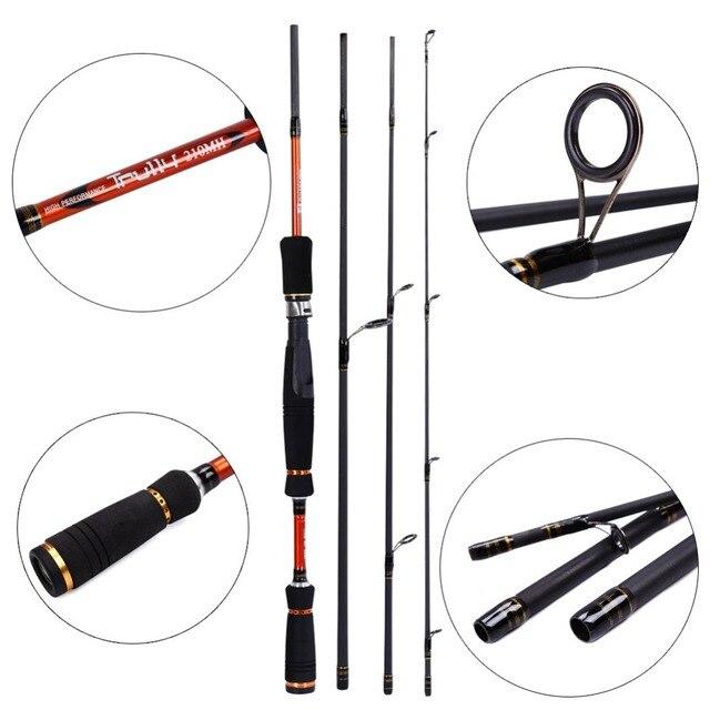 Sougayilang Spinning Fishing Rod Carbon Fiber 2.1M 2.4M 2.7M  4 Section baitcasting fishing rod Casting Lure Fishing Rod