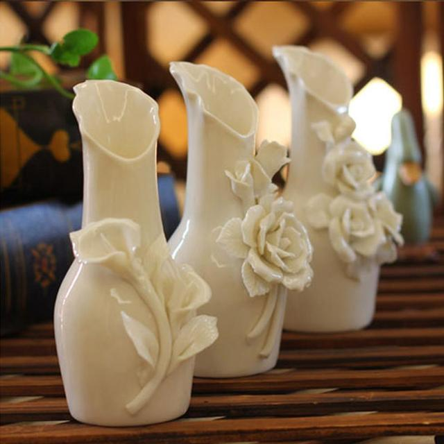 Set Of 3 Decorative Luxury Modern Style Ceramic Art Vase European