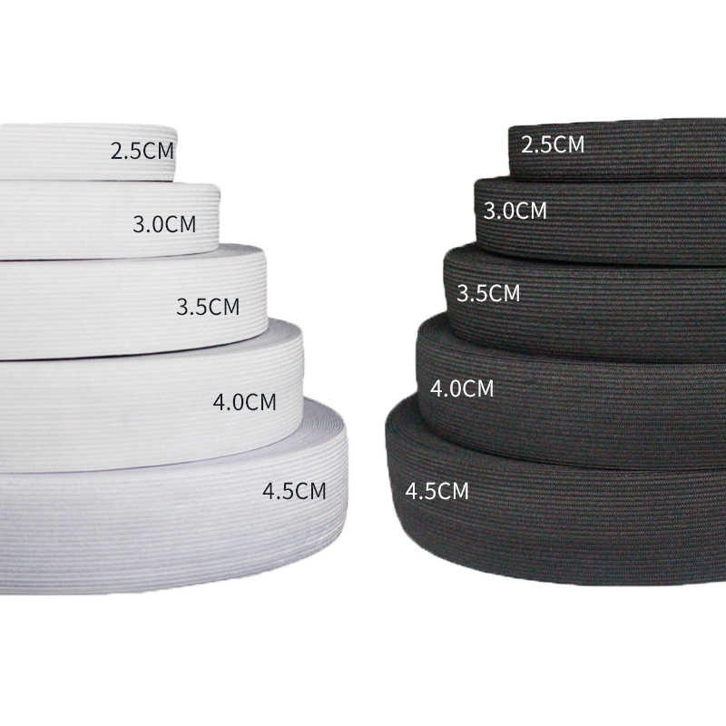 1meter  Flat Elastic Band Sewing Clothing Accessories Nylon Webbing Garment Sewing Accessories 10/15/25/30/35/40/45/50/55/60mm