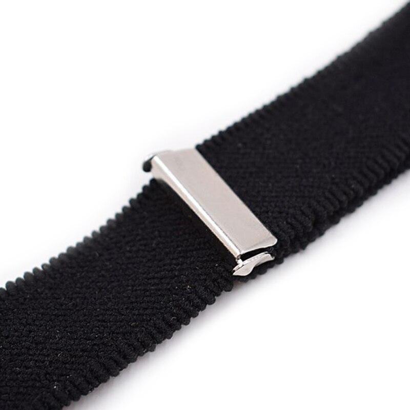 Y Style Elastic Leg Suspender Strap Shirt Stays Slip-on Locking Clamps 2Pcs//Set