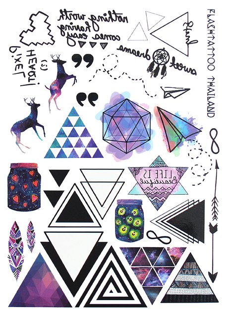 Geometric Temporary Tattoo Set