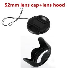 2 Pcs/set 52 Mm Flower Lensa Hood + 52 Mm Lensa Cap NK D3100 D5000 D3000 CN SX30 SX40 fotografi Aksesoris(China)