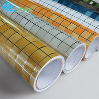 45cmX5m Korea Vinyl DIY Walls Sticker Bathroom Waterproof Self Adhesive Wallpaper Kitchen Mosaic Tile Decals For