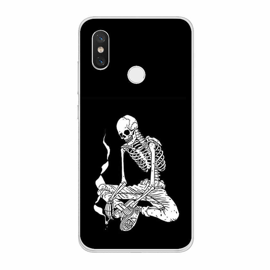 ciciber Skull for Xiaomi MI 9 8 A2 A1 6 5 X C S Plus Lite SE Soft TPU Phone Cases for MIX MAX 3 2 1 S Pro PocoPhone F1 Coque