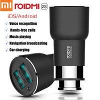 Original Xiaomi Car Charger Roidmi 2S Bluetooth Handfree USB 5 In 1 Charging Music Player FM