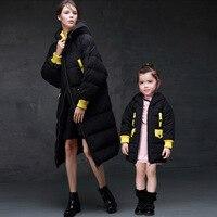 Moeder en dochter kleding familie bijpassende kleding Winter meisjes dikker katoen Moeder en dochter in een lange capuchon 30 #