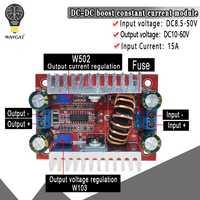 Convertidor elevador DC 400W 15A convertidor de corriente constante Controlador LED 8,5-50 V a módulo de aumento del cargador de voltaje de 10-60V